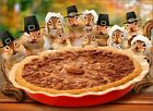 Chipmunks Deliver Pie Funny Thanksgiving Card - Greeting Card by Avanti Press photo