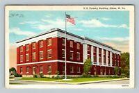 Elkins WV, Historic 1937 U.S. Forestry Building, Linen West Virginia Postcard