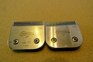 2 OSTER  SIZE # 10 CLIPPER  BLADES