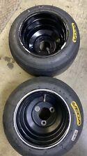 New listing go kart racing black anidiozed wheels and vega tires