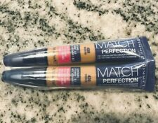 2x Rimmel Match Perfection Skin Tone Adapting Concealer/ Highlighter Medium 430