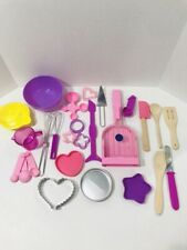 Kenner Easy Bake Oven Accessories Lot - Oven Spatula, Utensils, Measuring Spoons
