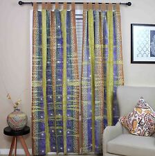 Handmade Celtic Batik Tie Dye Tab Top 100% Cotton Curtain Drape Panel 44x88 Inch