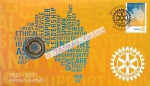 PNC Australia 2021 Rotary in Australia Centenary 100 Years RAM $1 Colour Coin