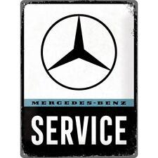 Blechschild MERCEDES BENZ Service 30x40 cm Oldtimer NEU/OVP Plakette Emblem logo
