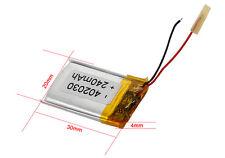 3.7V Syma 240mAh  LiPo Batterie mit PCB für RC Air Heli Quad 30 x 20 x 5mm 4g