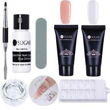 Quick Poly Extension Gel Slip Solution False Mold Tips Brush Tips Clip Nails Kit