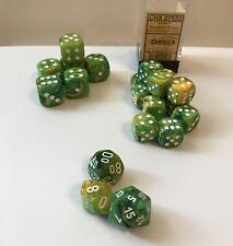 Chessex Vortex Dandelion Dice Lot: d20 d10 d% & 6 20mm Pips & 12 16mm Pips