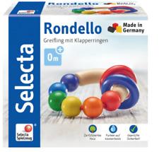 Selecta Babywelt, Rondello Greifling, Rassel, Babyspielzeug, Holz Natur, 61007