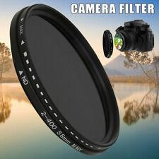 Neutral Density Fader Variable ND Filter Adjustable ND2 to ND400 for Camera Lens