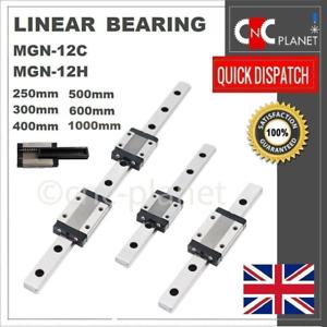 MGN SERIES 12mm LINEAR BEARING GUIDE SLIDE RAIL CARRIAGE BLOCK MGN12C MGN12H CNC