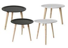 Retro Beistelltisch rund - 4 Größen - Holz Tisch Couchtisch Nachttisch Sofatisch