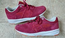New Asics Onitsuka Tiger Shaw Runner Shoes Trainers Burgundy D447L Size 8