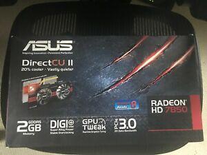 Radeon HD 7850 Asus DirectCU 2GB DIGI+ GPU tweak PCIe 3.0 graphic card NEW