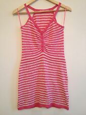 River island - Knitted Jersey Strip Pink And white