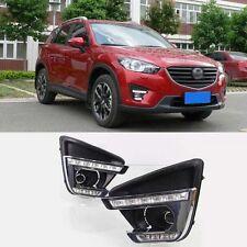 Superb LED Daytime Running Lights DRL+Foglight Cover For Mazda CX-5 2016