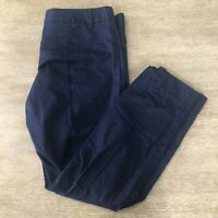 Women's Gap Slim Cropped Navy Dress Career Pants 4R Size 4