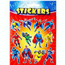 12 Super Hero Sticker Sheets - Pinata Toy Loot/Party Bag Fillers Wedding/Kids