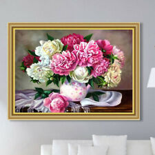 Adults Diamond Paintings Kit Full Drill Family Flowers Home Wall Decoration 6n