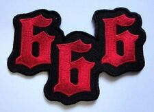 SIX HUNDRED AND SIXTY-SIX NO.666  SATAN Embroidered Iron on Patch Free Shipping