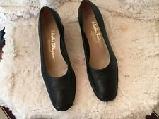 Salvatore Ferrogamo Boutique Black Pumps Leather Size 7.5