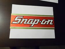 Vintage Snap On Tools Red/gold Foil Decal Mint