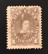 Stamps Newfoundland SC42 1c grey brown unused no gum Edward.  See description