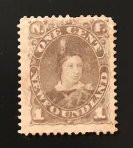 Stamps Newfoundland SC42 1c grey brown unused no gum Edward.  See description