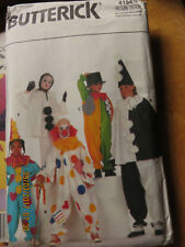 BUTTERICK CHILDS COSTUMES  PATTERN - CLOWN MIME - 4154 - SM - XL