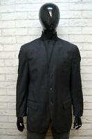 RALPH LAUREN Uomo Size L Giacca Elegante Cappotto Blazer da Ufficio Lana Grigio