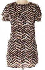 19 Cooper Nordstrom Brown & Black Ikat Print Tunic Dress xs