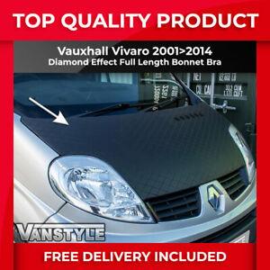 FITS VAUXHALL VIVARO 01>14 BONNET BRA DIAMOND EFFECT PROTECTOR COVER STONE GUARD