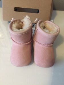 Girls Infant Pink Ugg Boots Size Small 6-12 Months