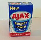 Vintage 1970's Empty 4 Oz Sample Size New AJAX Bucket of Power Cleaner Box Dri-A