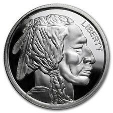 Native American Indian - Buffalo 1 oz Silver Ultra High Relief USA Made Round