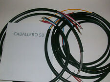 IMPIANTO ELETTRICO ELECTRICAL WIRING MOTO CABALLERO 50 PUNTINE+SCHEMA ELETTRICO