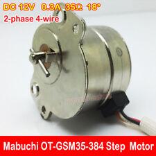 DC 12V 35MM 2-phase 4-wire OT-GSM35-384 Micro Mini Gear Step Stepper Motor