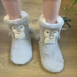 Soft-soled Slippers Winter Warm Shoes Ladies Comfy Flat Bootie Footwear Non-slip