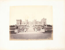 ALBUMEN PHOTO OF WINDSOR CASTLE   BEAUTIFUL GARDENS - ENGLAND