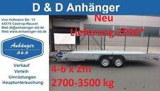 NEU PKW Anhänger Autotransporter Tieflader Universal Maschinen Transporter allz