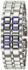 Gadgets & Gear Sub Zero Blue Steel LED Faceless Silver Tone Watch ~ GREAT GIFT