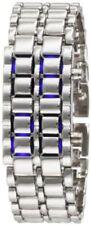 Gadgets & Gear Sub Zero Blue Steel LED Faceless Silver Tone Watch ~ GREAT GIFT
