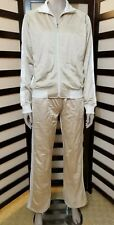 Gold and White Southpole Women's 2 Piece Tracksuit Large