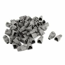 Ethernet Cable CAT5 CAT6 RJ45 Strain Plug Cover Boot 100PCS Gray E5F9