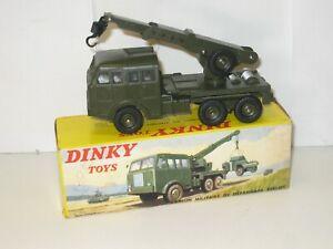 Camion BERLIET dépannage militaire DINKY TOYS modèle et boite d'ORIGINE