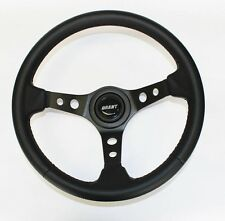 67 Olds Cutlass 442 Delta Black on Black Carbon Fiber Look Steering Wheel 13 3/4