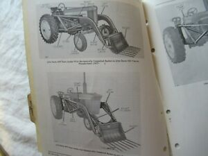 John Deere 45W farm loader parts catalog book manual