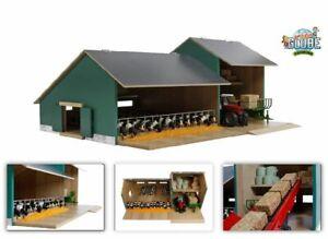 Van Manen Kids Globe Farming Kuh Stall mit Werkstatt 1:32 Holz ohne Tiere 610200