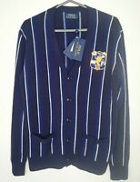 Ralph Lauren Polo Men Stripe *Wool / Cashmere* Crest Cardigan Sz: S, rrp:£199