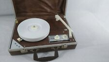 Vintage Dejay Model SP-25 Portable Travel Record Player Turntable In Case Vinyls